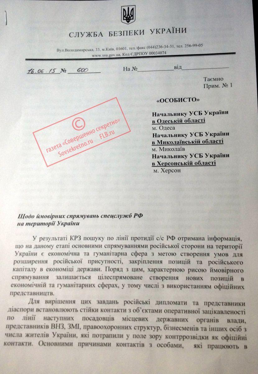документ СБУ
